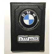 Сувениры и подарки handmade. Livemaster - original item Cover for auto documents with the state number and logo. Handmade.