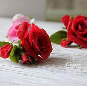 Украшения ручной работы. Ярмарка Мастеров - ручная работа Невидимки с розами. Handmade.