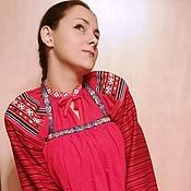 Русский стиль handmade. Livemaster - original item Apron, apron. Handmade.