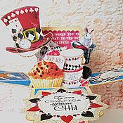"""Открытки ручной работы. Ярмарка Мастеров - ручная работа """"Чудесное Чаепитие"""" открытка-коробочка pop-up. Handmade."""