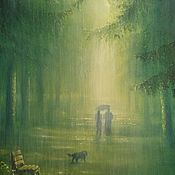 Картины и панно handmade. Livemaster - original item The author`s picture of Green rain. Handmade.