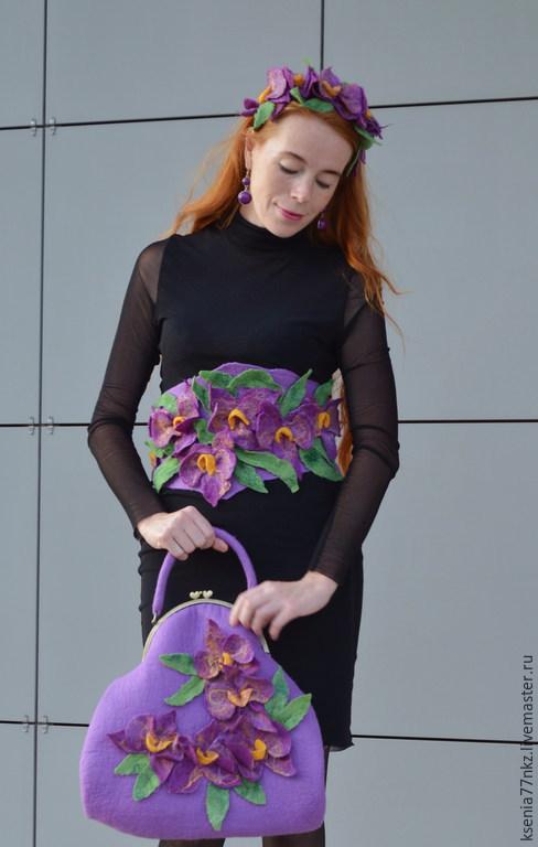 """Диадемы, обручи ручной работы. Ярмарка Мастеров - ручная работа. Купить Ободок """"Великолепие орхидей"""". Handmade. Сиреневый, стильный аксессуар"""