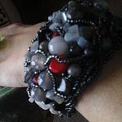 Украшения ручной работы. Ярмарка Мастеров - ручная работа агатовый браслет Скрытый Огонь. Handmade.