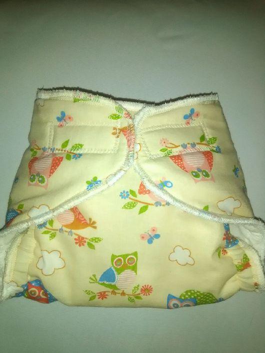Одежда ручной работы. Ярмарка Мастеров - ручная работа. Купить Многоразовые подгузники  для новорожденных. Handmade. Бежевый, для новорожденного, на выписку из роддома