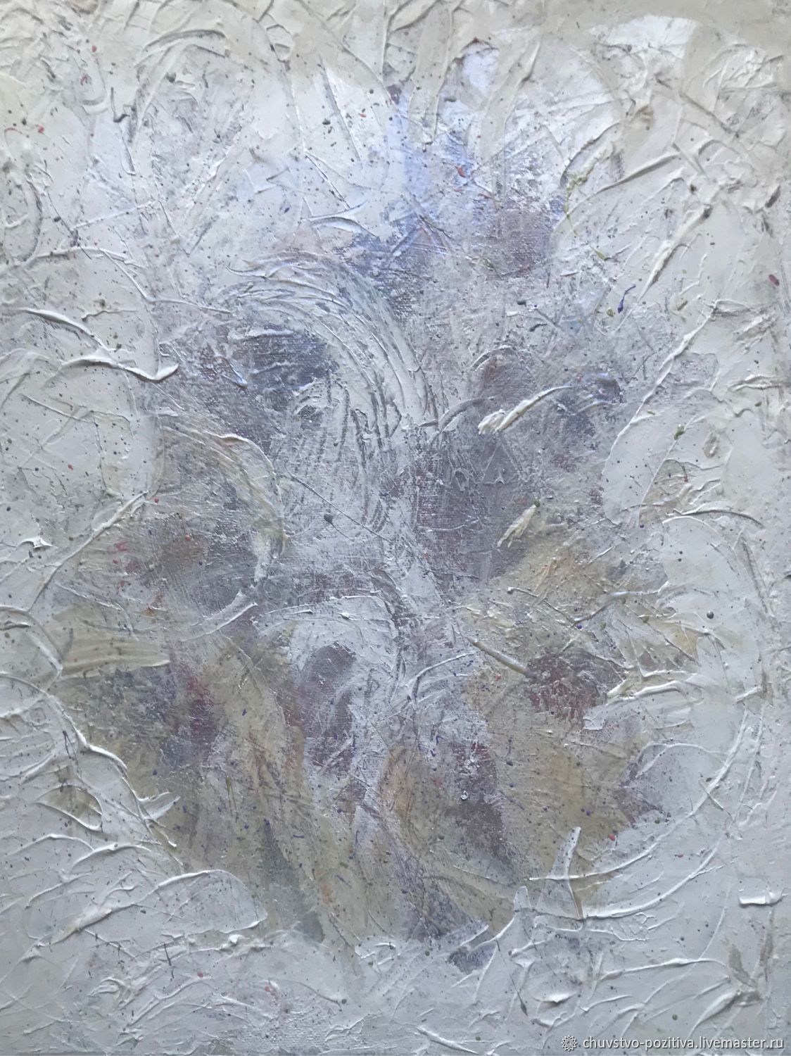 Painting mother-of-pearl frost pattern on the window 'Frost' 50h40h1,5.  cm, Pictures, Volgograd,  Фото №1