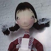 Куклы и игрушки ручной работы. Ярмарка Мастеров - ручная работа Интерьерная текстильная кукла Пеппи-первоклассница. Handmade.