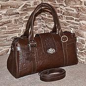 Сумки и аксессуары handmade. Livemaster - original item Model 60 Classic bag: Bag of genuine leather. Handmade.