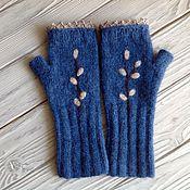Аксессуары handmade. Livemaster - original item Mitts, knitted felted Verba. Handmade.