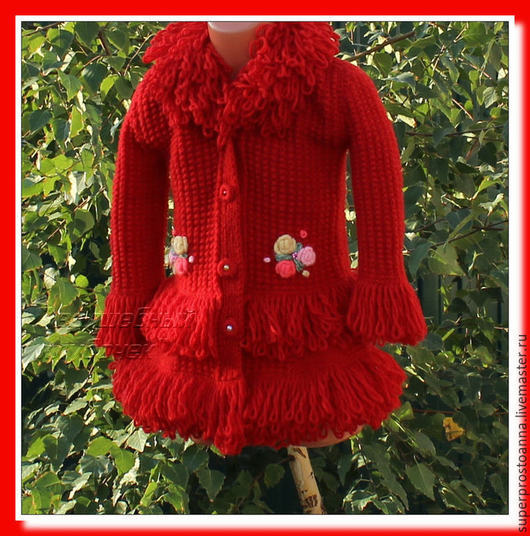 Одежда для девочек, ручной работы. Ярмарка Мастеров - ручная работа. Купить пальто для девочки вязаное пальто. Handmade. Пальто для девочки