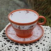 Чайные пары ручной работы. Ярмарка Мастеров - ручная работа Чайная пара Лесная песня. Handmade.