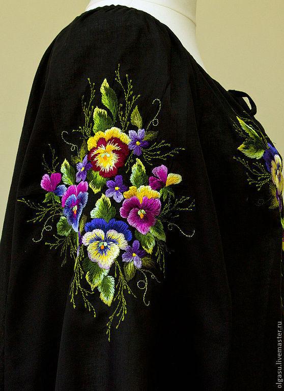 Купить блузку женскую черную