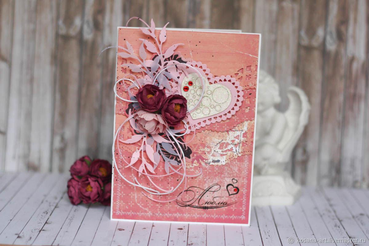 Cards for All Occasions  handmade. Livemaster - handmade. Buy Postcard for beloved.Gift for girls