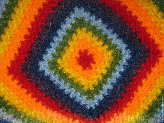 """Текстиль, ковры ручной работы. Ярмарка Мастеров - ручная работа. Купить плед """"Радуга"""". Handmade. Комбинированный, пряжа травка"""