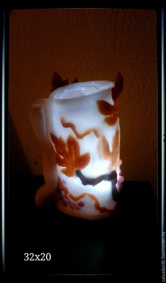 Освещение ручной работы. Ярмарка Мастеров - ручная работа. Купить Лампа. Handmade. Комбинированный, авторская ручная работа, воск