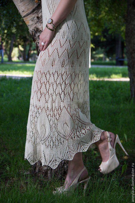 """Платья ручной работы. Ярмарка Мастеров - ручная работа. Купить Платье """"Шелковое"""". Handmade. Бежевый, Платье красивое"""