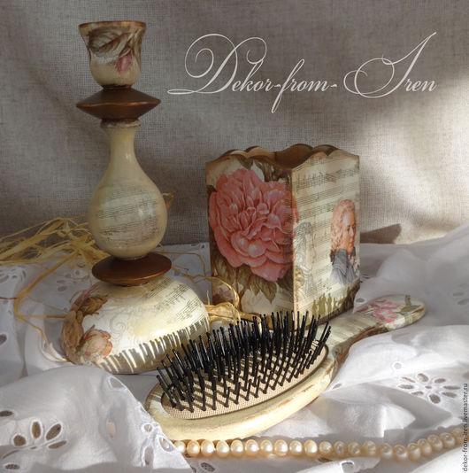 расческа декупаж подарок ручной работы подарок для любительницы музыки подарок Моцарт