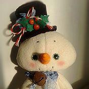 Куклы и игрушки ручной работы. Ярмарка Мастеров - ручная работа Новогодний снеговичок. Handmade.