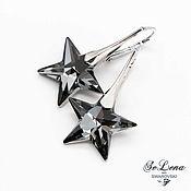 Украшения handmade. Livemaster - original item Silver Swarovski earrings, 925 sterling silver Star Swarovski Earrings. Handmade.