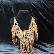 Украшения handmade. Livemaster - original item Necklace Evening brown. Handmade.