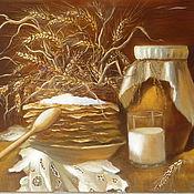 """Картины и панно ручной работы. Ярмарка Мастеров - ручная работа Картина """"К бабушке на блины"""". Handmade."""
