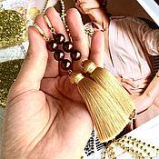 Украшения handmade. Livemaster - original item Earrings-brush Caramel Golden caramel fantasy. Handmade.
