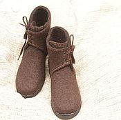 Обувь ручной работы. Ярмарка Мастеров - ручная работа Ботинки валяные демисезонные женские. Handmade.