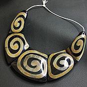 handmade. Livemaster - original item Water Buffalo Horn Spiral Necklace Set. Handmade.