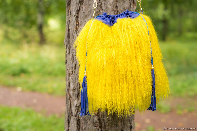 Bag fur Lama. stylish bag. FUR HANDBAG. bag-Torba, Bucketbag, Kirov,  Фото №1