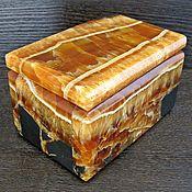 Для дома и интерьера ручной работы. Ярмарка Мастеров - ручная работа Шкатулка из симбирцита. Handmade.