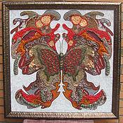 """Картины и панно ручной работы. Ярмарка Мастеров - ручная работа Коллаж """"Такие свободные бабочки"""". Handmade."""