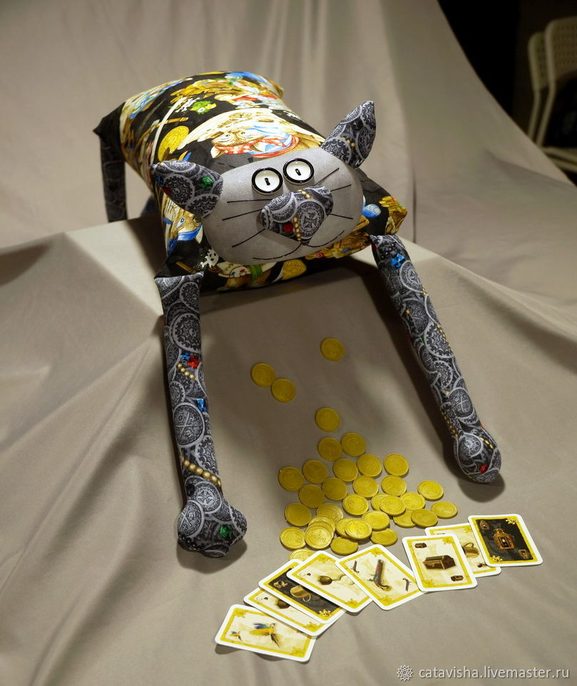 """Игрушка-подушка """"Радужный кот"""" Пиратские сокровища, Мягкие игрушки, Королев,  Фото №1"""