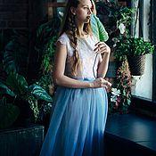 Свадебный салон ручной работы. Ярмарка Мастеров - ручная работа Кружевной топ и юбка из фатина. Handmade.
