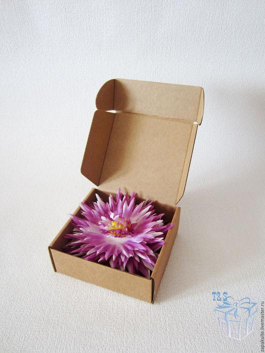 Упаковка ручной работы. Ярмарка Мастеров - ручная работа. Купить Крафт коробки, 11,5х11,5х4,5 см., мгк, коробка, для украшений, часов. Handmade.
