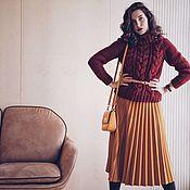 Одежда ручной работы. Ярмарка Мастеров - ручная работа Вязаный свитер с косами под горло. Handmade.