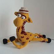 Куклы и игрушки ручной работы. Ярмарка Мастеров - ручная работа Жираф Задавака. Handmade.