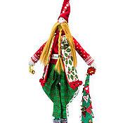 Куклы и пупсы ручной работы. Ярмарка Мастеров - ручная работа Ирландский Санта Дайдаин трубач. Handmade.