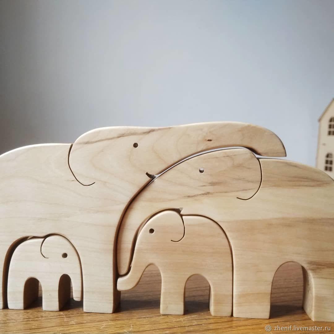 Семья слонов, Пазлы головоломки, Благовещенск,  Фото №1