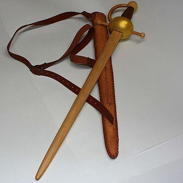 Куклы и игрушки ручной работы. Ярмарка Мастеров - ручная работа Шпага детская деревянная. Handmade.