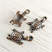 Материалы для творчества handmade. Livemaster - original item Turtle pendant color: antique COPPER (art. 1201). Handmade.