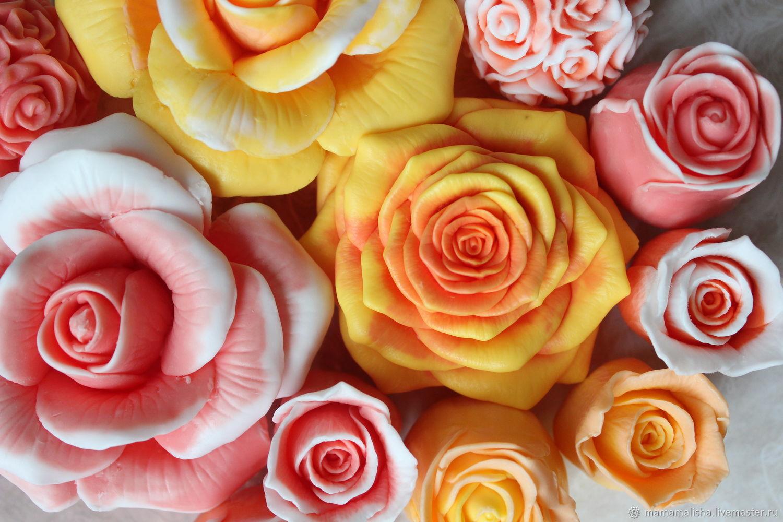 Мыло ручной работы. Ярмарка Мастеров - ручная работа. Купить Роза Гранд, мыло ручной работы. Handmade. Цветы, розы
