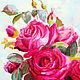 Заказать Розовые розы натюрморт. Наталья Жаденова. Ярмарка Мастеров. . Картины Фото №3