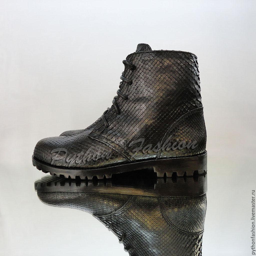 1855223d8ecb Мужские ботинки из питона на меху CATS – купить в интернет-магазине на  Ярмарке ...