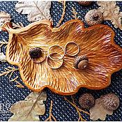 """Посуда ручной работы. Ярмарка Мастеров - ручная работа Тарелка для украшений и мелочей """"Дуб"""".. Handmade."""
