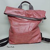 Рюкзаки ручной работы. Ярмарка Мастеров - ручная работа Рюкзак кожаный коралловый. Handmade.