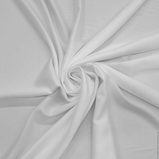 Стрейч атлас матовый Linda -  цвет белый