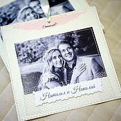 Свадебный салон ручной работы. Ярмарка Мастеров - ручная работа Свадебные приглашения с фото на магнитах. Handmade.