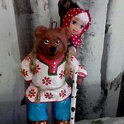 Куклы и пупсы ручной работы. Ярмарка Мастеров - ручная работа Маша и медведь 13см.. Handmade.