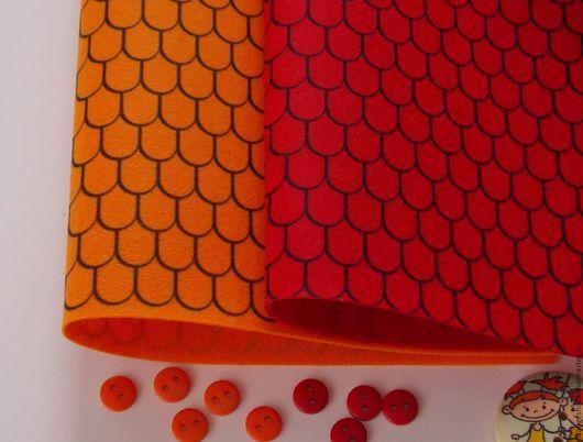Другие виды рукоделия ручной работы. Ярмарка Мастеров - ручная работа. Купить Фетр корейский с рисунком Черепица. Handmade. Комбинированный