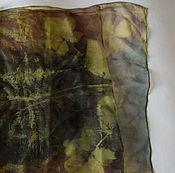 Аксессуары ручной работы. Ярмарка Мастеров - ручная работа Шелковый шарф Лесное озеро. Handmade.