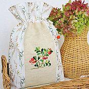 Для дома и интерьера handmade. Livemaster - original item Bag with hand embroidery